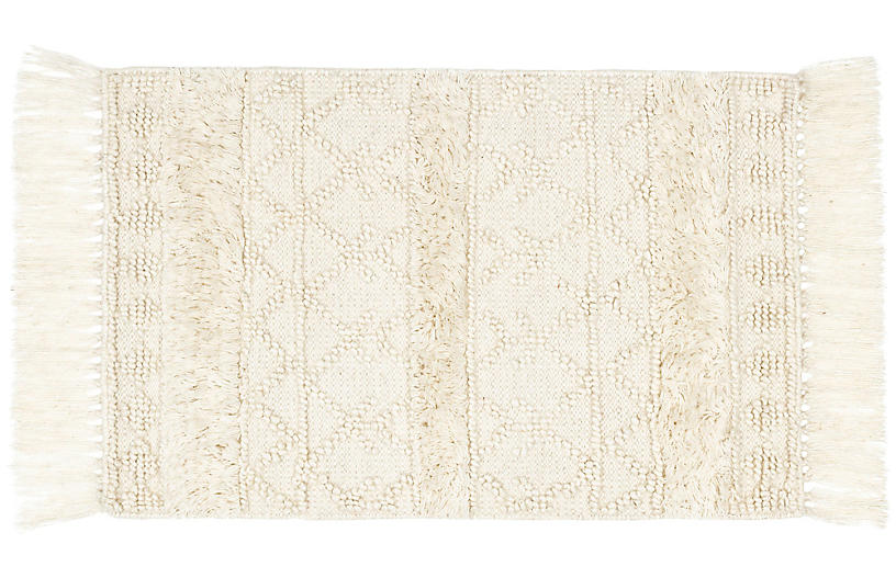 Anchorage Handwoven Rug, Ivory