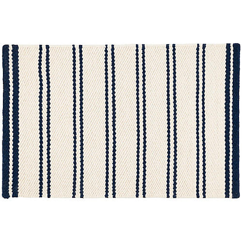 Fairbank Stripe Handwoven Rug, Blue