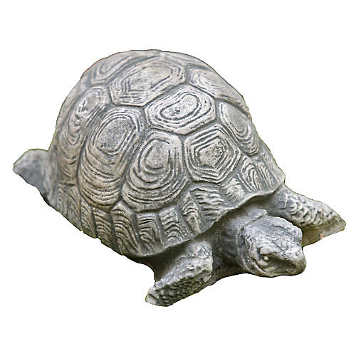 "6"" Turtle Outdoor Statue, Graystone"