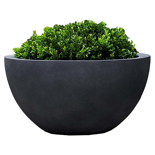 """25"""" Piccadilly Outdoor Planter, Lead"""