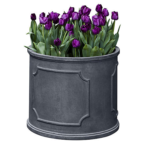Portsmouth Round Planter, Lead Lite