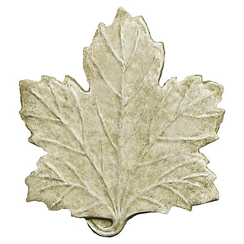 "18"" Maple Leaf Stepping-Stone Accent, English Moss"