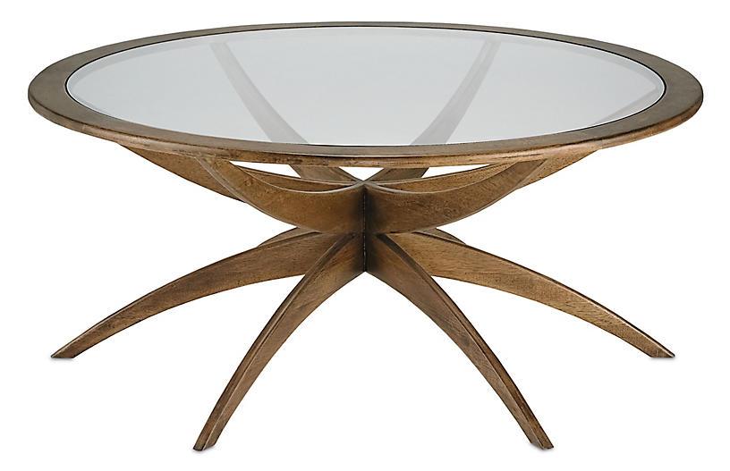 Ellen Coffee Table, Weathered Walnut