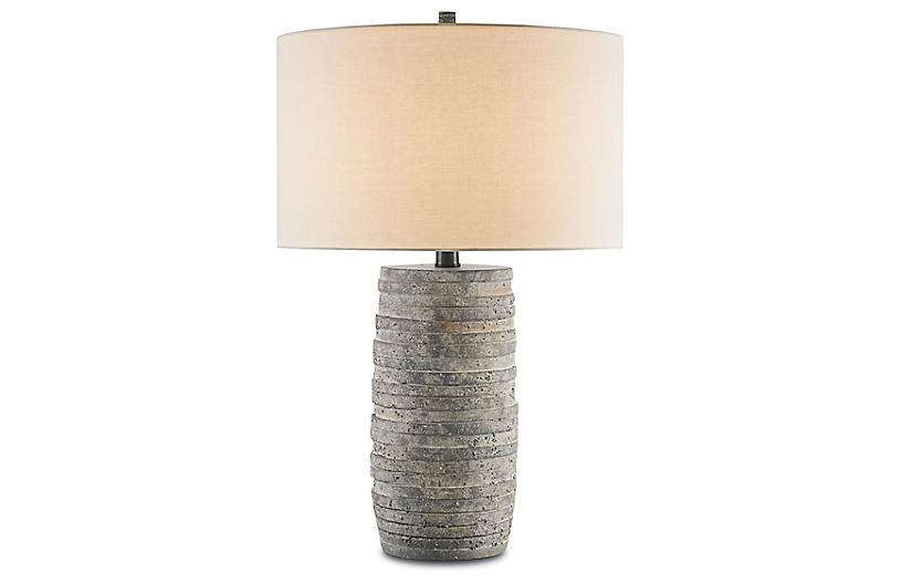 Innkeeper Table Lamp, Rustic/Off-White