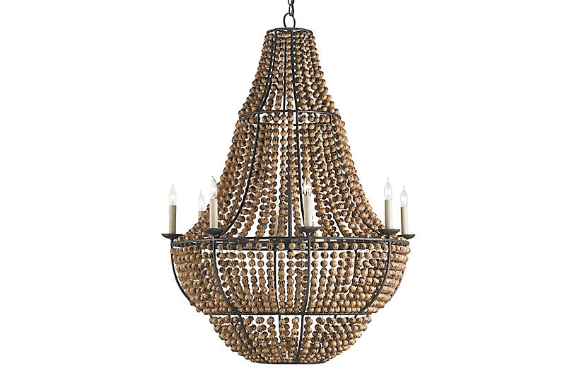 Falconwood Chandelier, Old Bronze/Natural