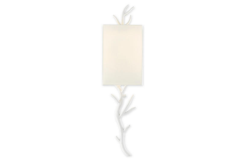 Baneberry Right Wall Sconce, White/Off-White