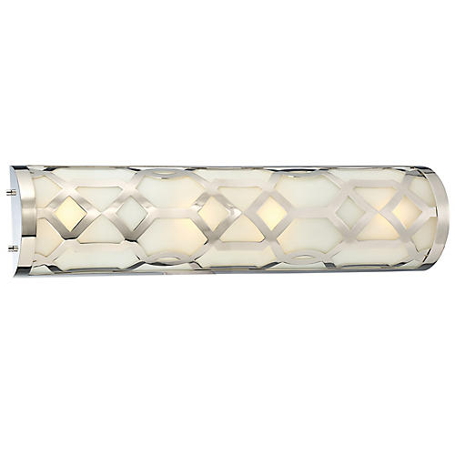 1-Light Bath Bar, Polished Nickel