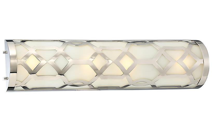1-Light Bath Bar, Polished Nickel