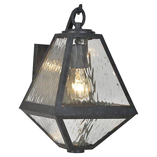 Glacier Outdoor Sconce, Black Charcoal