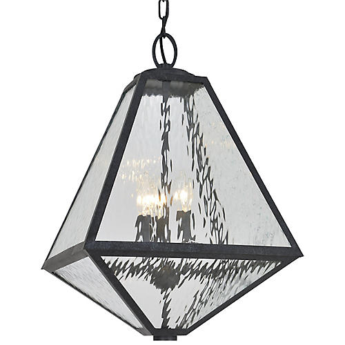 Glacier Outdoor Chandelier, Black Charcoal
