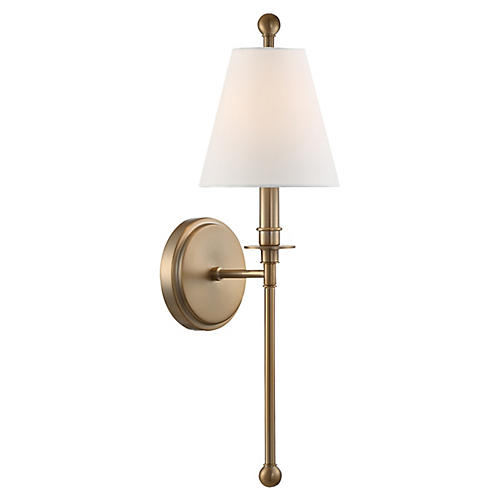 Riverdale Sconce, Aged Brass