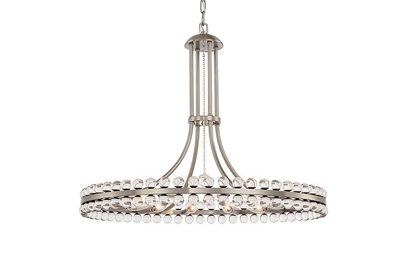 Clover 12-Light Chandelier, Brushed Nickel