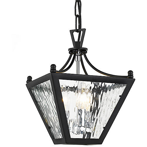 Park Hill 3-Light Lantern, Matte Black
