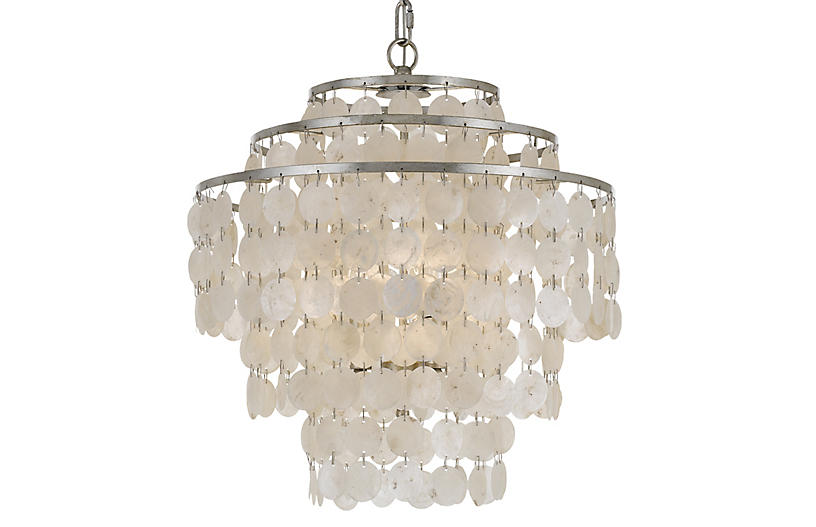 Brielle 4-Light Chandelier, Antiqued Silver