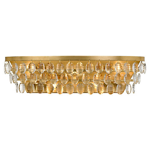 Perla 5-Light Bath Bar, Antiqued Gold