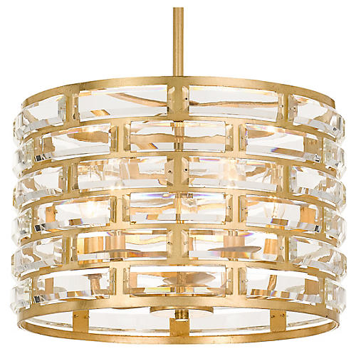 Meridian 5-Light Chandelier, Antiqued Gold