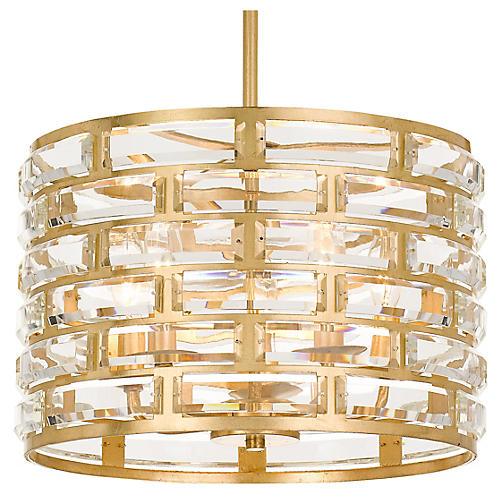 Meridian 5-Light Chandelier, Antiqued Gold