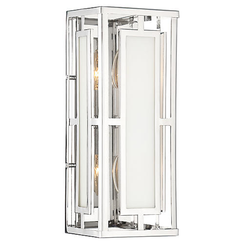 Hillcrest 2-Light Sconce, Polished Nickel
