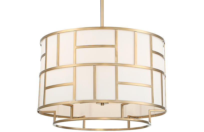 Danielson 6-Light Chandelier, Vibrant Gold