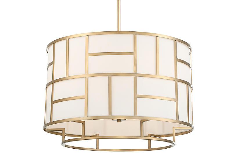 Danielson 6-Light Chandelier, Vibrant Gold