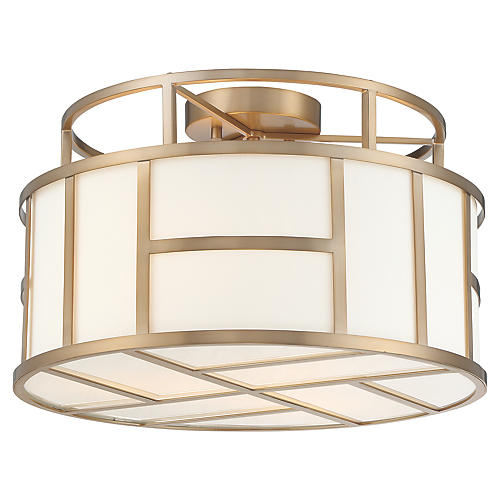 Danielson 4-Light Flush Mount, Vibrant Gold