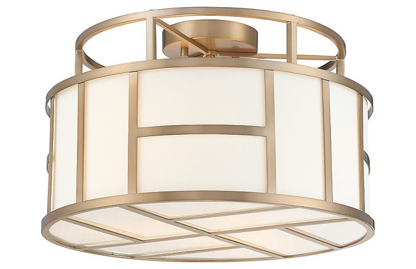 Danielson 4-Light Flush Mount, Vibrant Gold