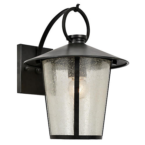 Andover Outdoor Sconce, Matte Black