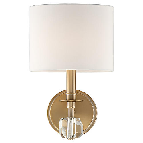 Chimes Sconce, Vibrant Gold