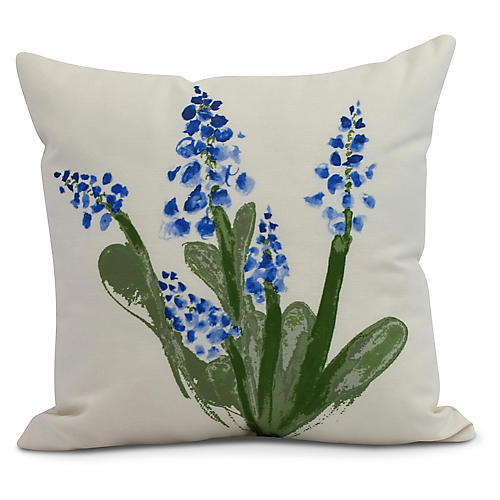 Albright Bloom Pillow, Blue/Green