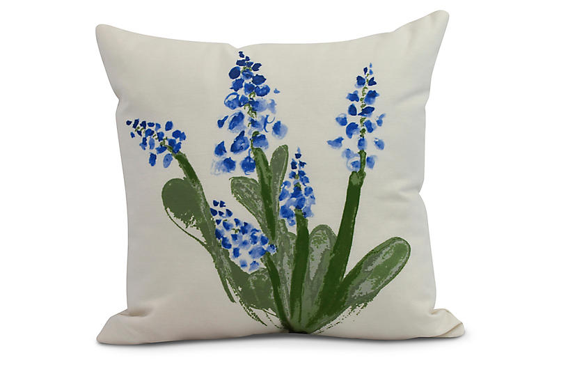Albright Bloom Pillow, Blue/Green