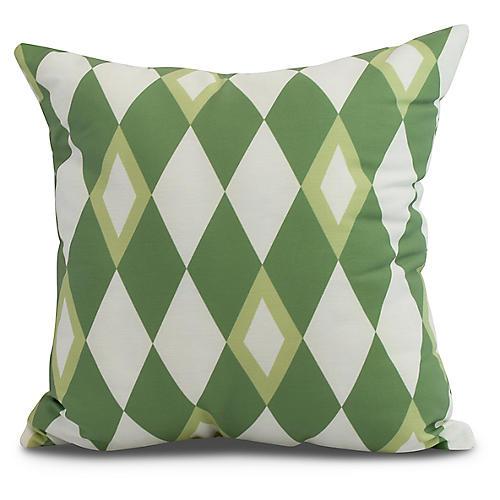 Andrews Argyle Pillow, Green