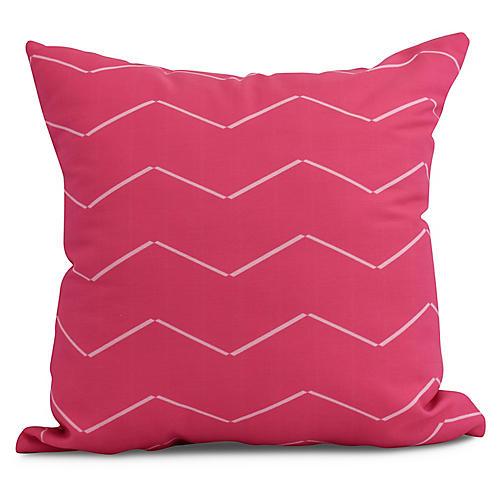 Ocean Waves Pillow, Pink