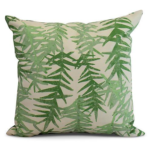 Falling Ferns Pillow, Green