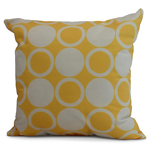Checkers Pillow, Yellow