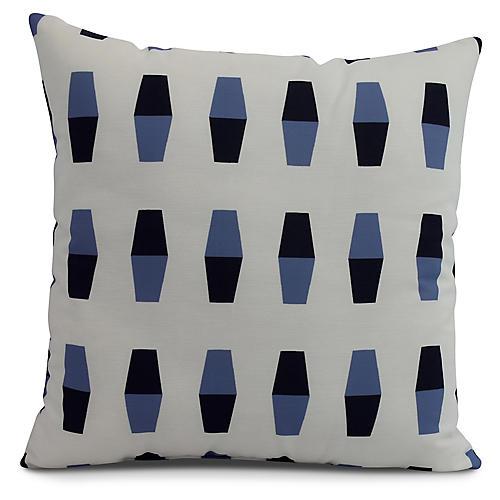 Floating Buoy Pillow, Blue/Black