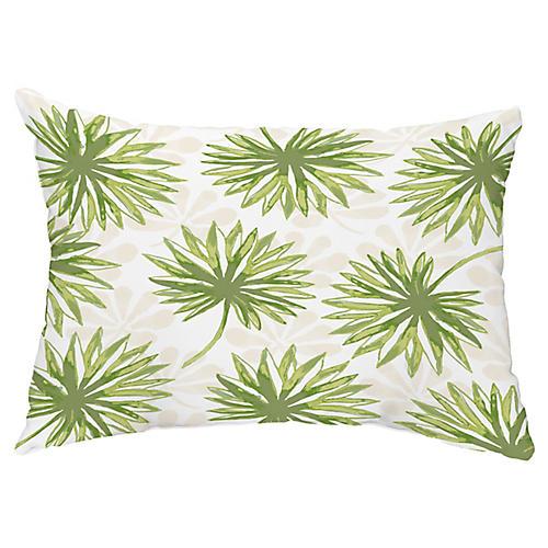 Tropical 14x20 Lumbar Pillow, Green