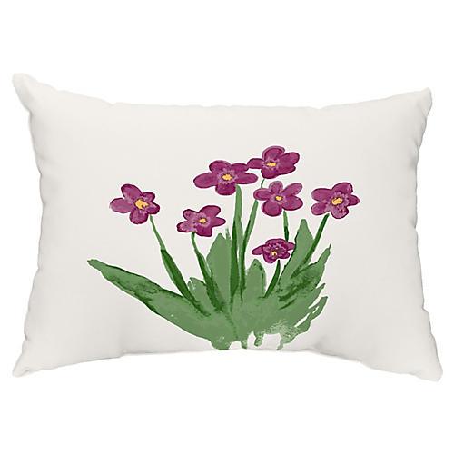 Perennial Flower 14x20 Lumbar Pillow, Purple