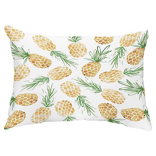 Pineapple 14x20 Lumbar Pillow, Gold