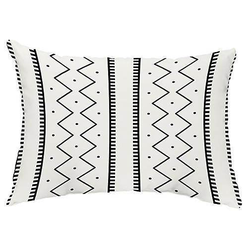 Simple Lines 14x20 Lumbar Pillow, Cream
