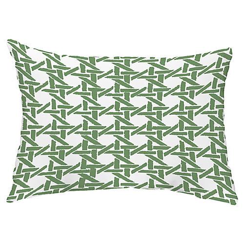 Sugarcane 14x20 Lumbar Pillow, Green