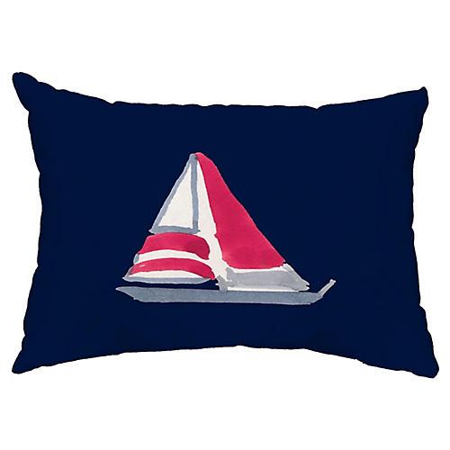 Schooner 14x20 Lumbar Pillow, Navy