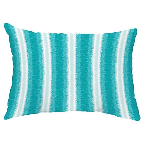 Sea Lines 14x20 Lumbar Pillow, Teal