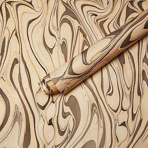 Cesare Marbleized Gift Wrap
