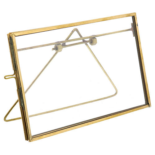 Milton Horizontal Easel Frame, Brass