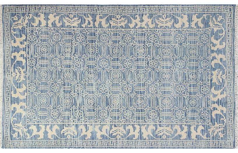 Harper Hand-Knotted Rug, Denim