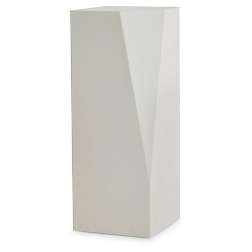 Facet Large Plant Stand, Ivory