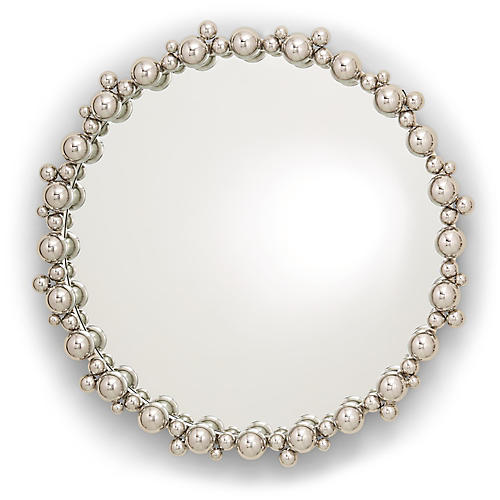 Bubble Wall Mirror, Nickel