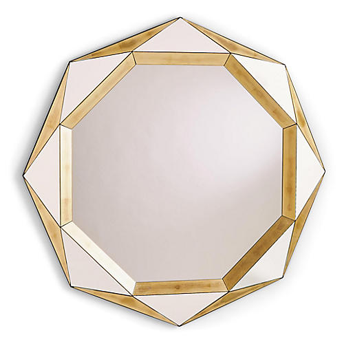 Madeleine Wall Mirror, Gold Leaf