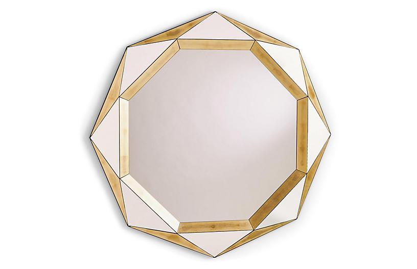 Madeleine Wall Mirror, Gold Leaf