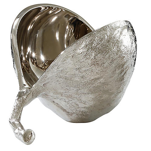 Chestnut Snack Bowl, Nickel